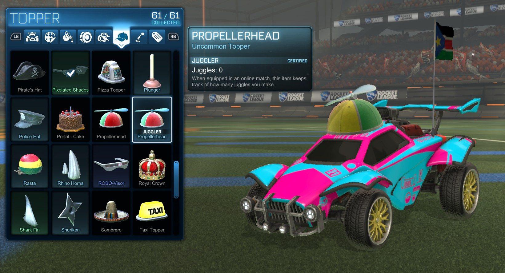 Certified Items Rocket League