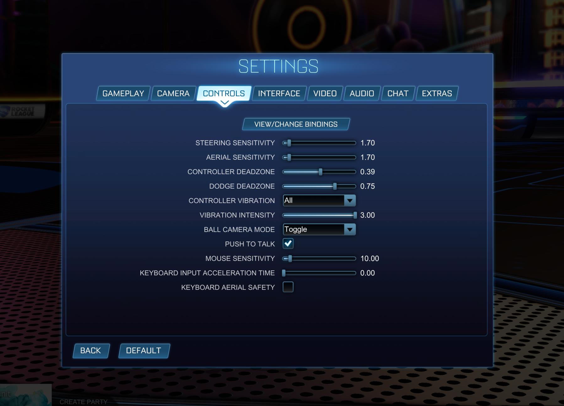 Best controls Rocket League