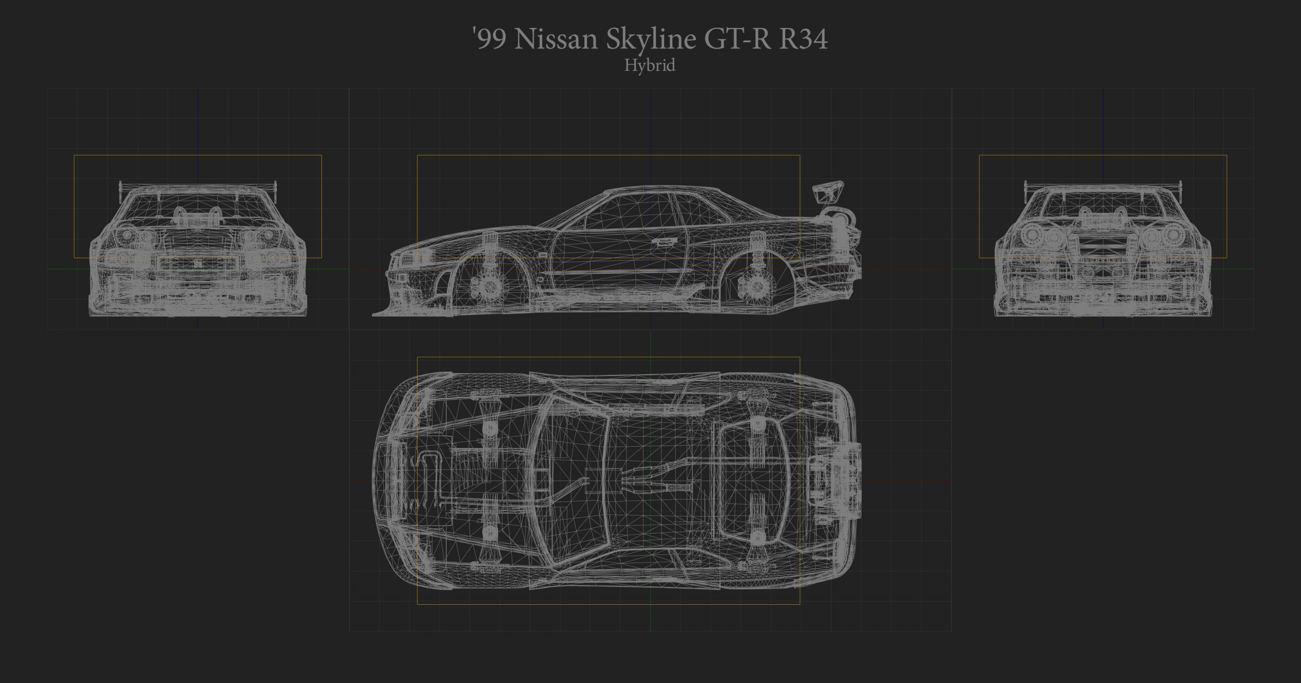 Nissan Skyline Hitbox Rocket League
