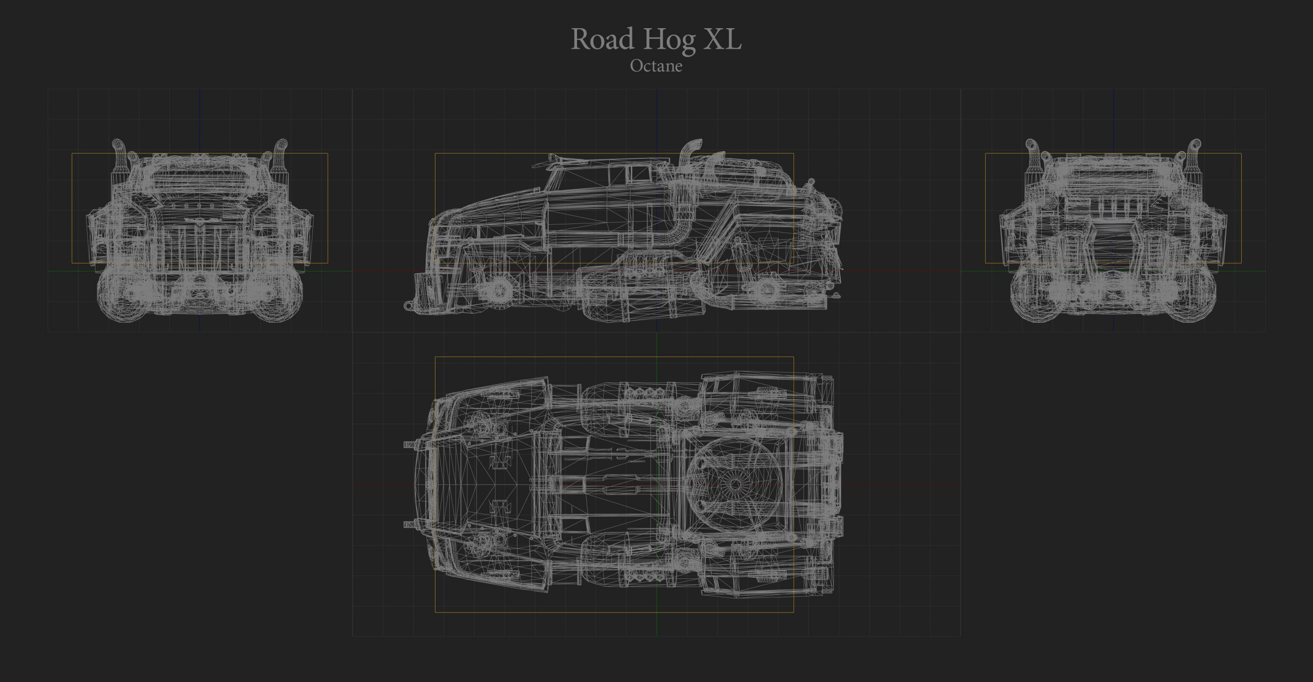 Road Hog XL Hitbox Rocket League