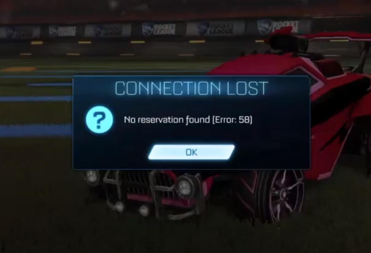 Error 58 Rocket League