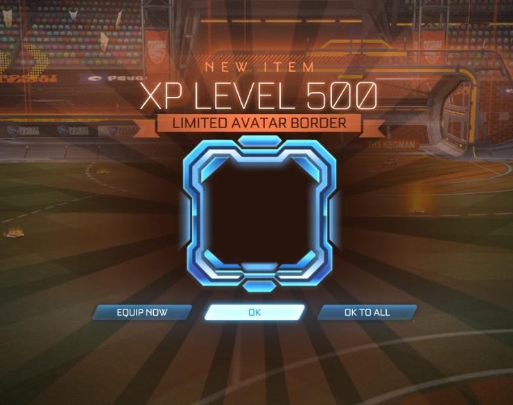 Rocket League XP level 500
