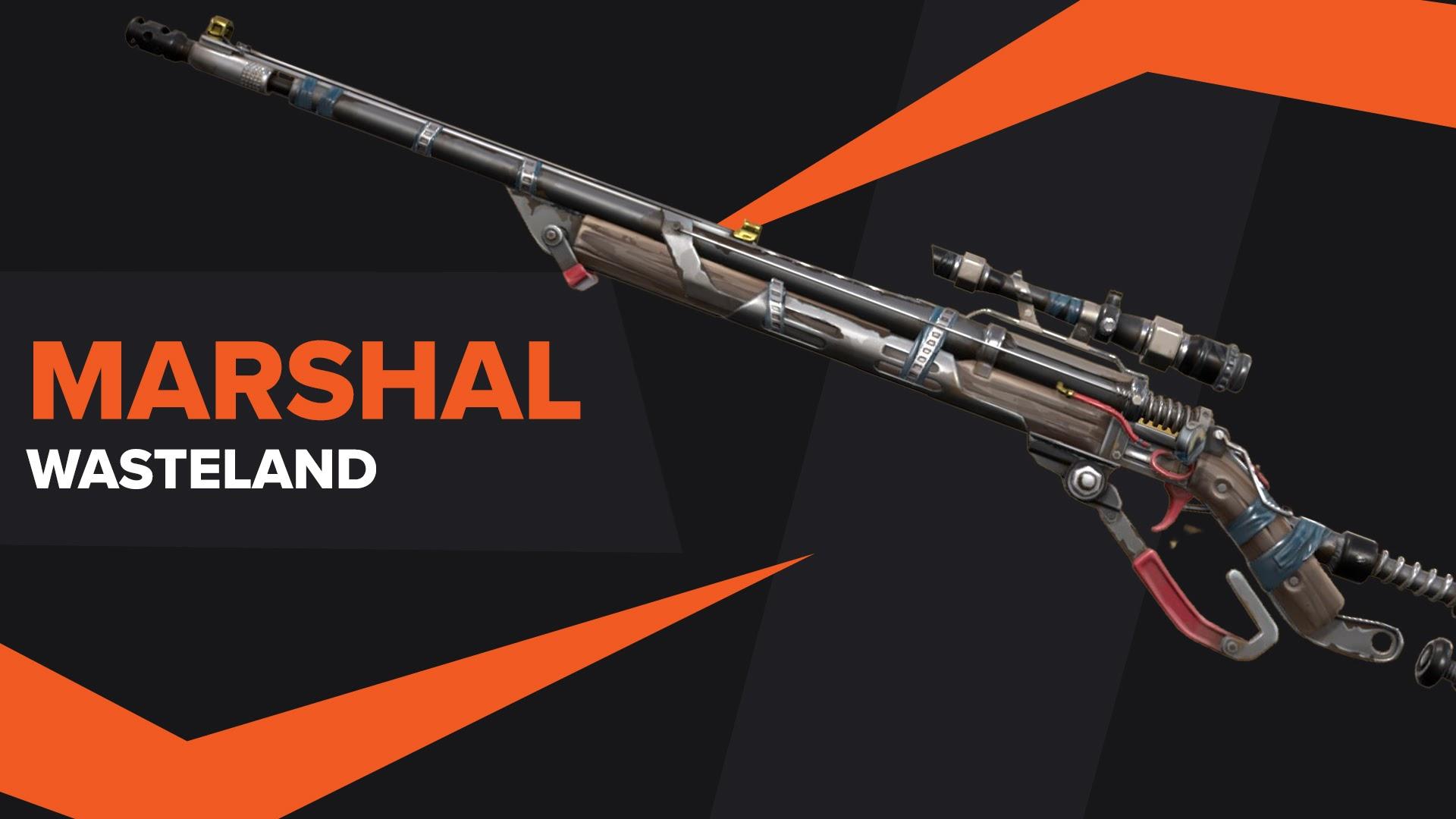 Marshal Wasteland Skin Valorant