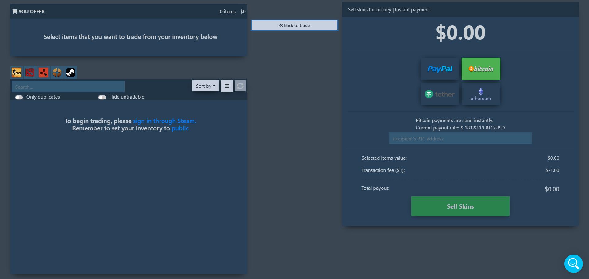 Tradeit.gg Review Screenshot