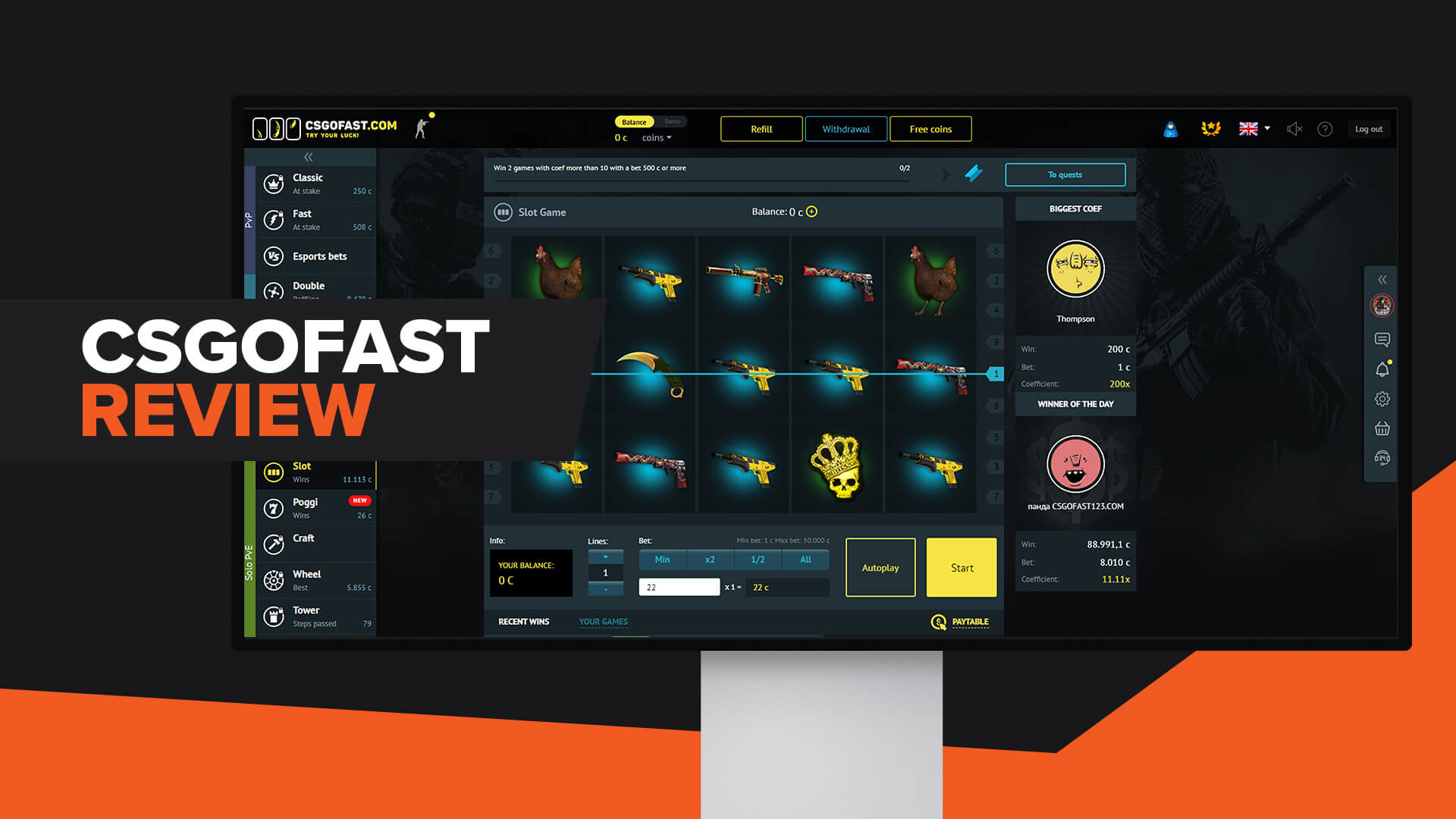 CSGOFAST Review | Legit | Promo Code | Alternatives
