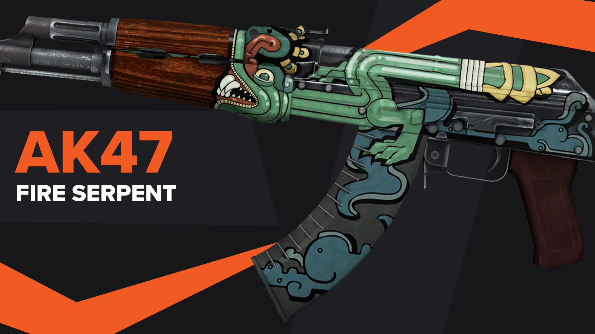 AK47 Fire Serpent CSGO Skin