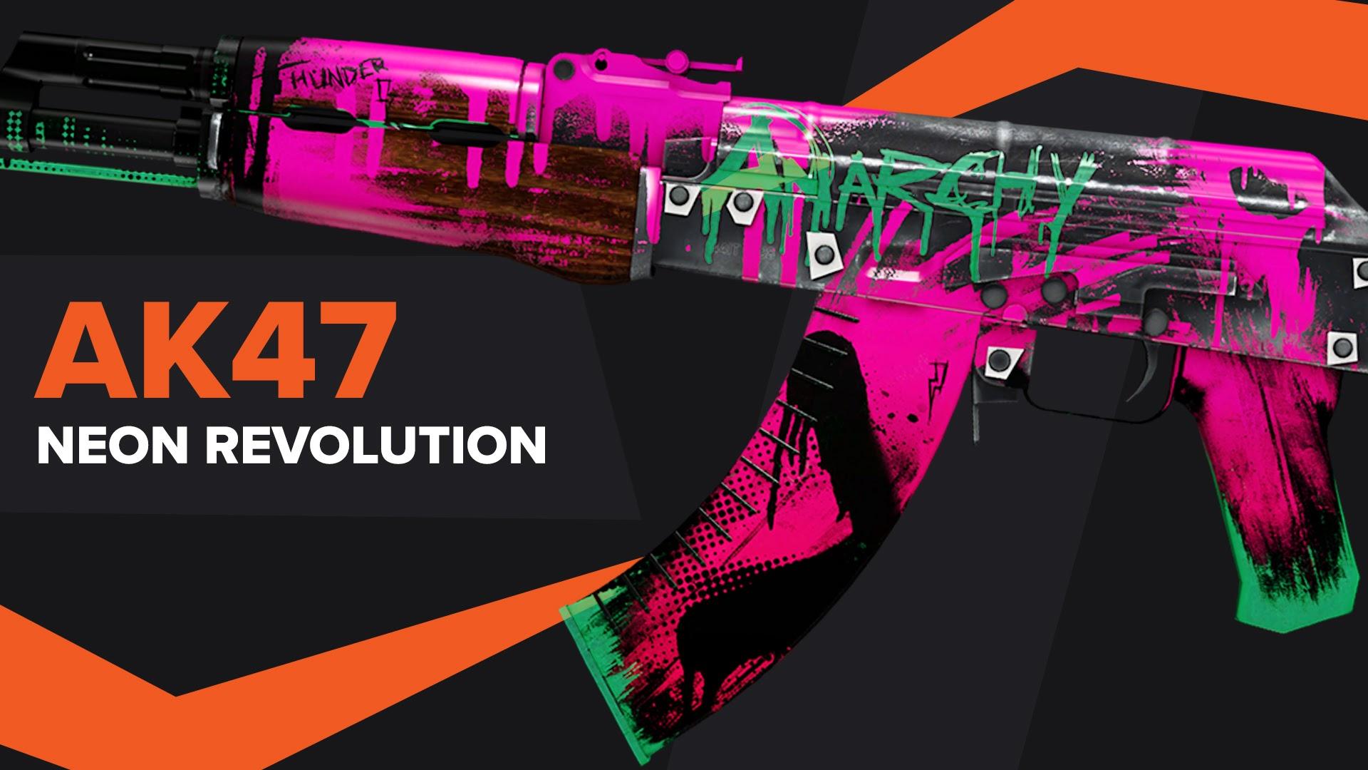 AK47 Neon Revolution CSGO Skin
