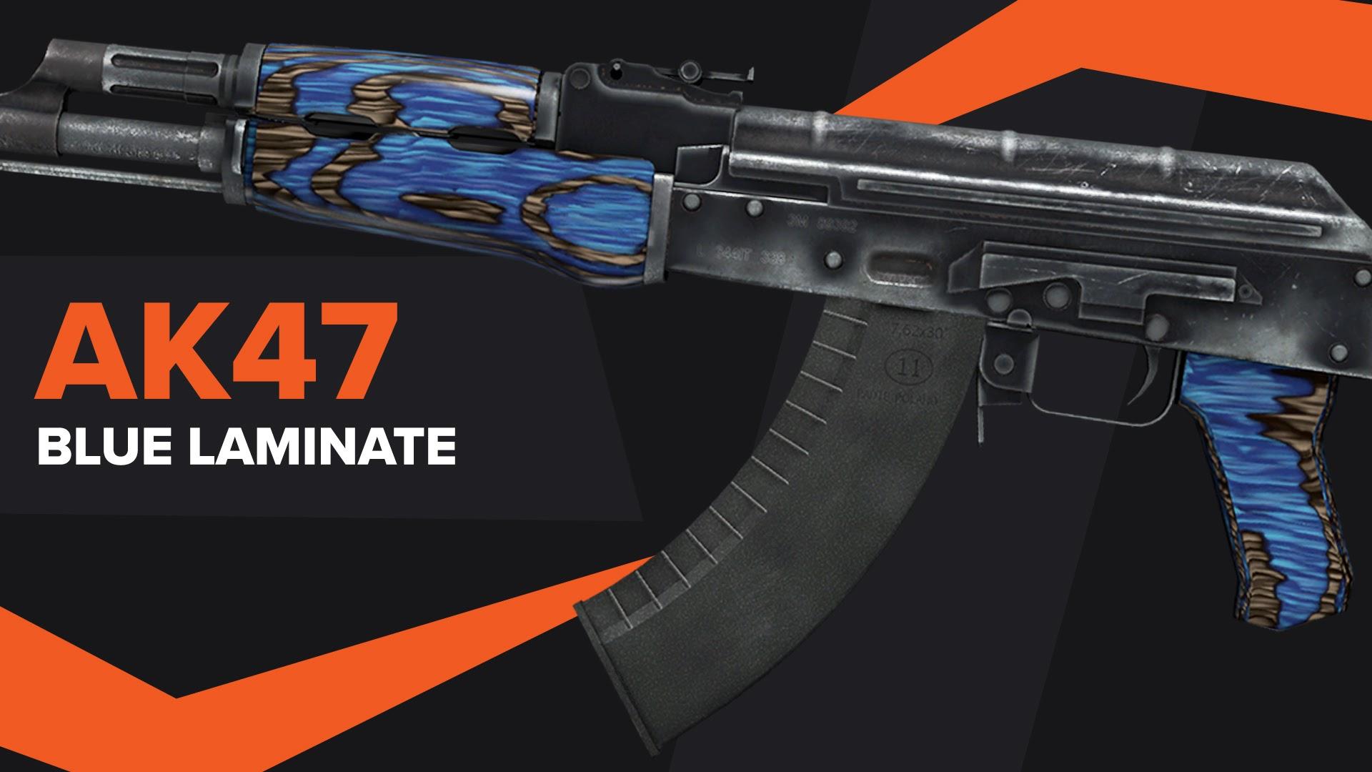 AK47 Blue Laminate CSGO Skin