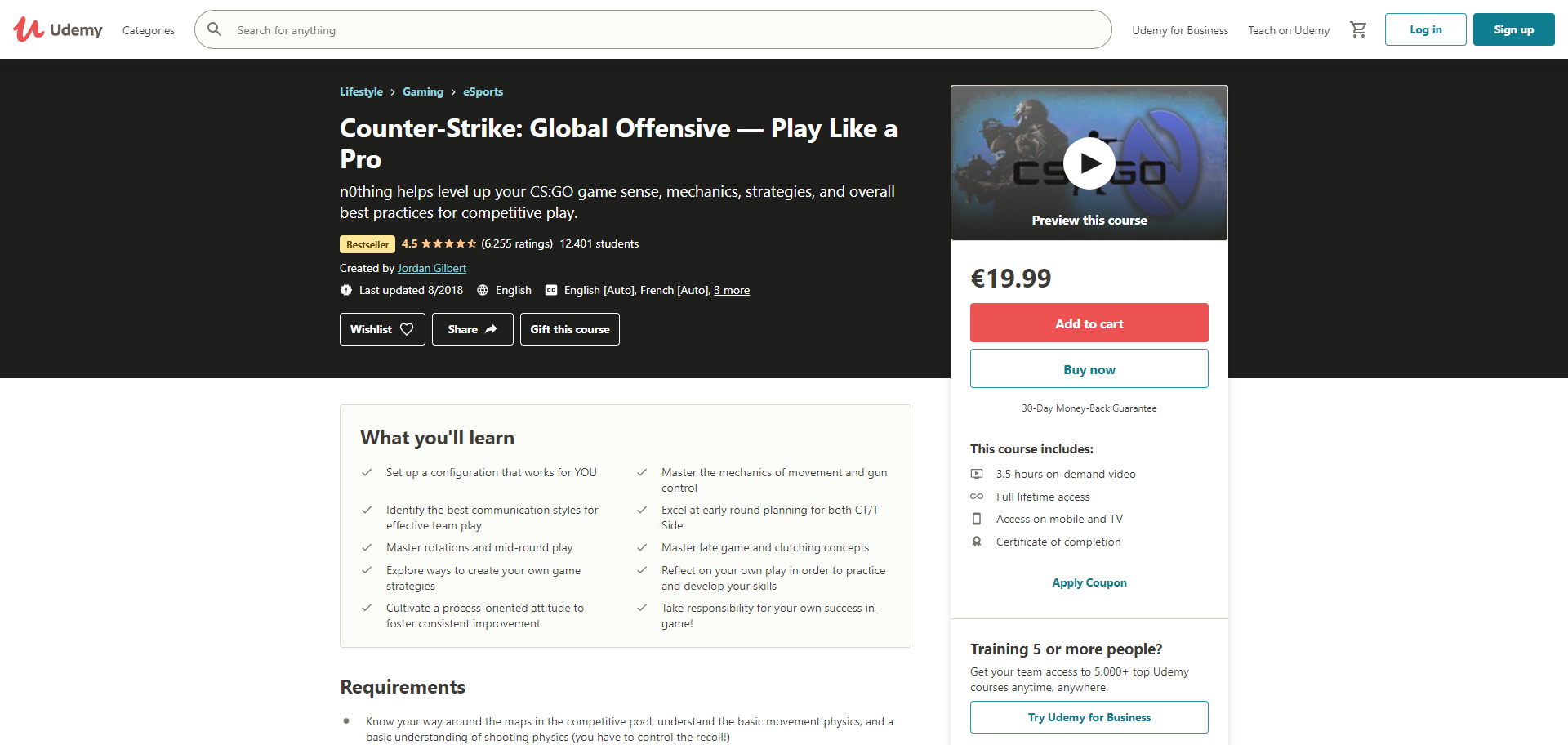 n0thing Udemy CSGO Course