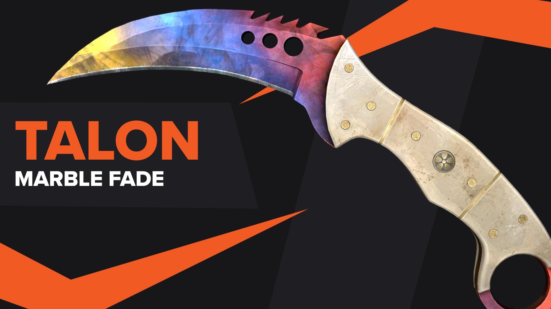 Talon Knife Marble Fade CSGO Skin