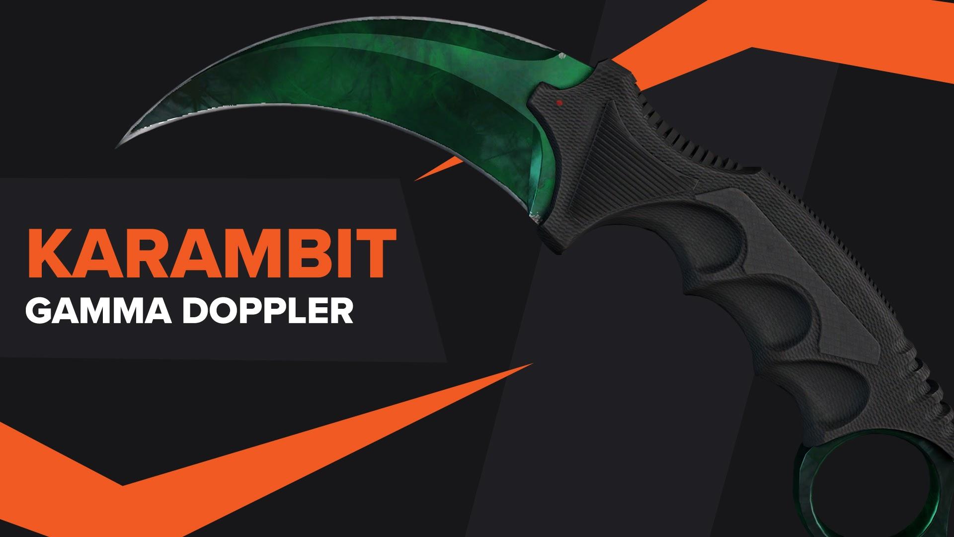 Karambit Gamma Doppler CSGO Skin
