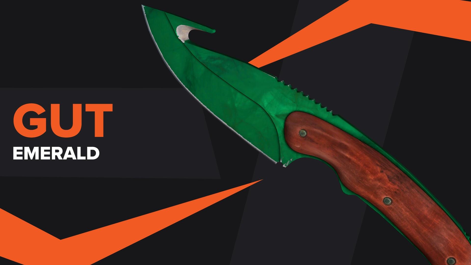 Gut Knife Emerald CSGO Skin