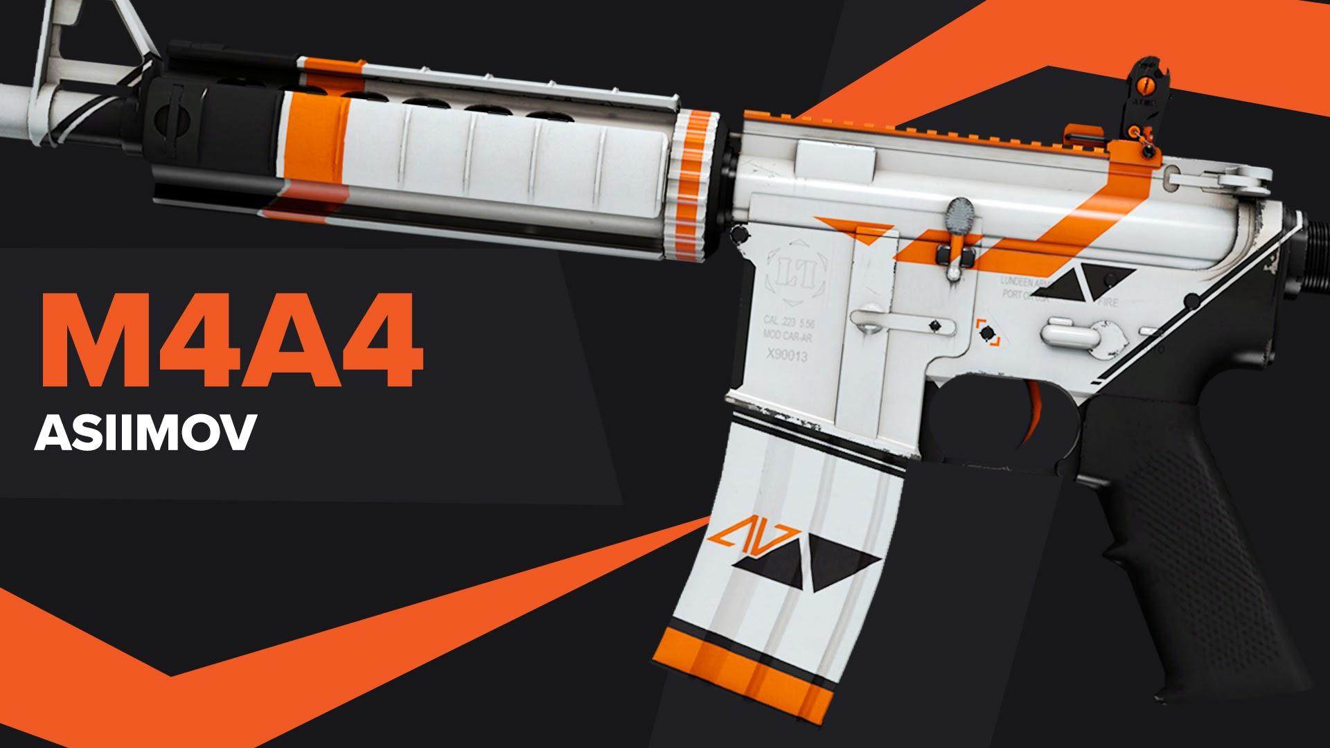 Asiimov CSGO Skin M4A4