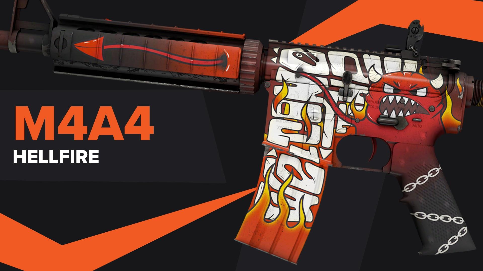 Hellfire CSGO Skin M4A4