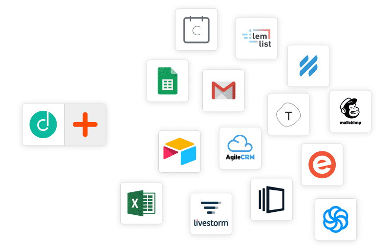 With Zapier, connect Dropcontact to over 2000 applications