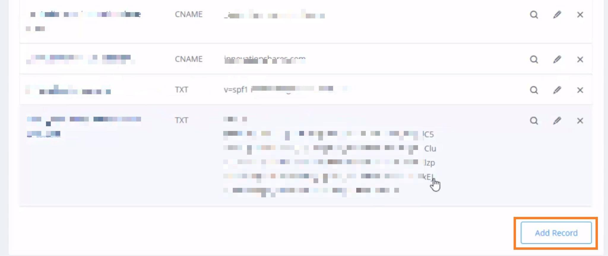Ajouter enregistrement DNS Ionos