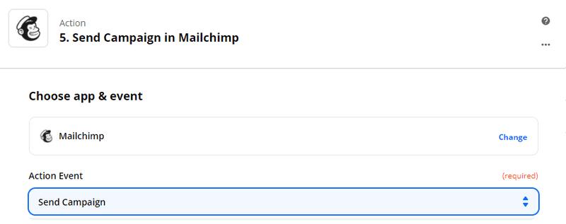 Zapier - envoyer un email personnalisé avec Dropcontact sur mailchimp