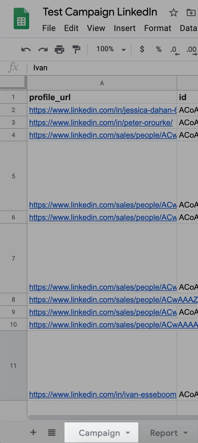 Nommer votre extraction GoogleSheet via CaptainData et Dropcontact