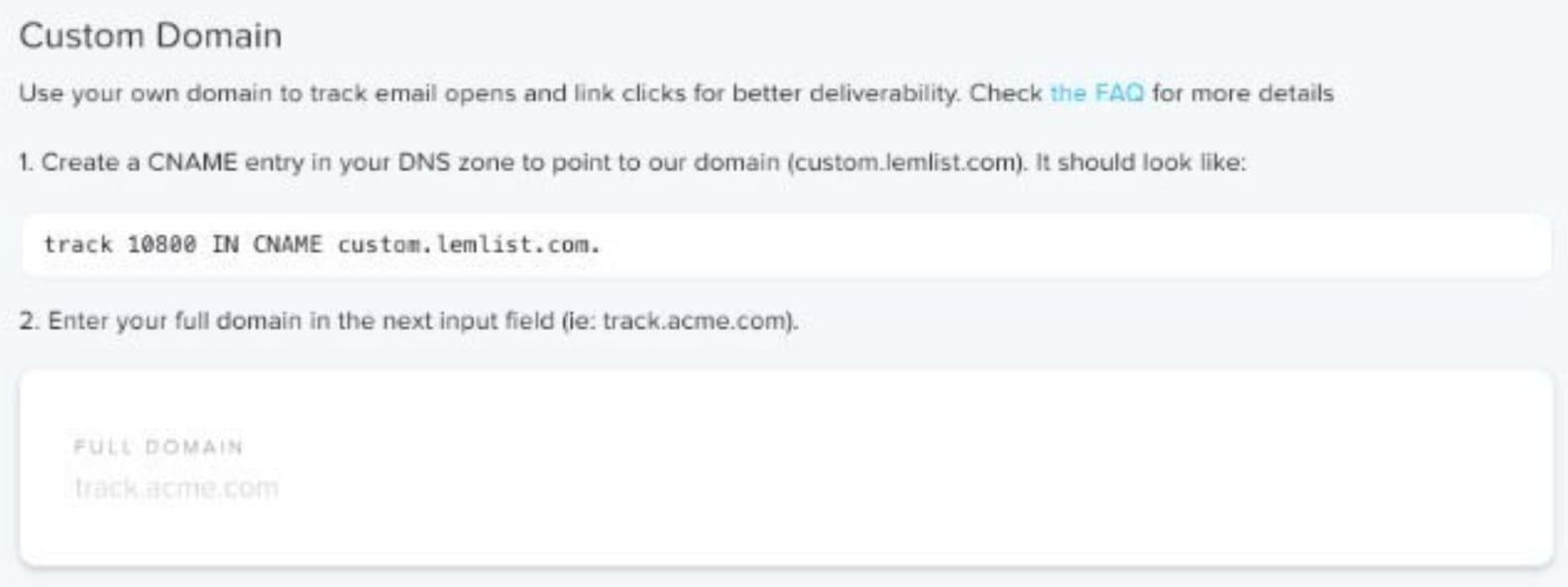 configuration du Custom domain