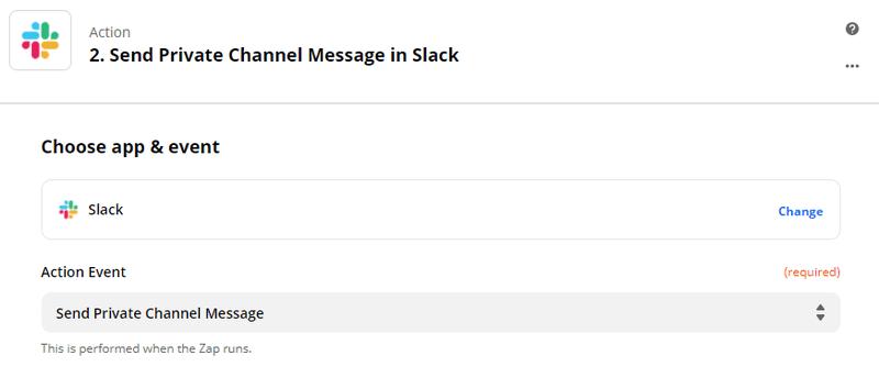 Zapier - Connecter Slack pour envoyer un message privé personnalisé