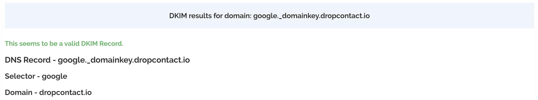 Outil vérification DKIM