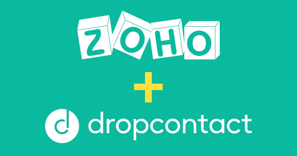 Dropcontact integrated with Zoho CRM via Zapier