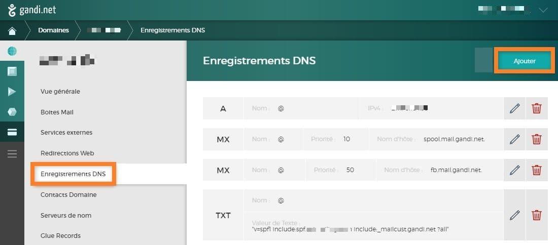 enregistrement DNS : technique