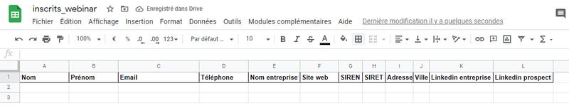 Zapier - Enrichir via Dropcontact et pousser dans Google Sheet