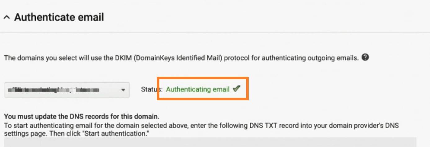 Authentifier DKIM G Suite