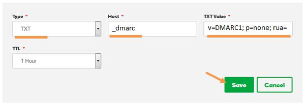 Ajout norme DMARC Godaddy