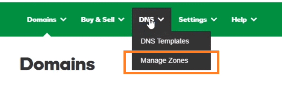 Gestion DNS GoDaddy