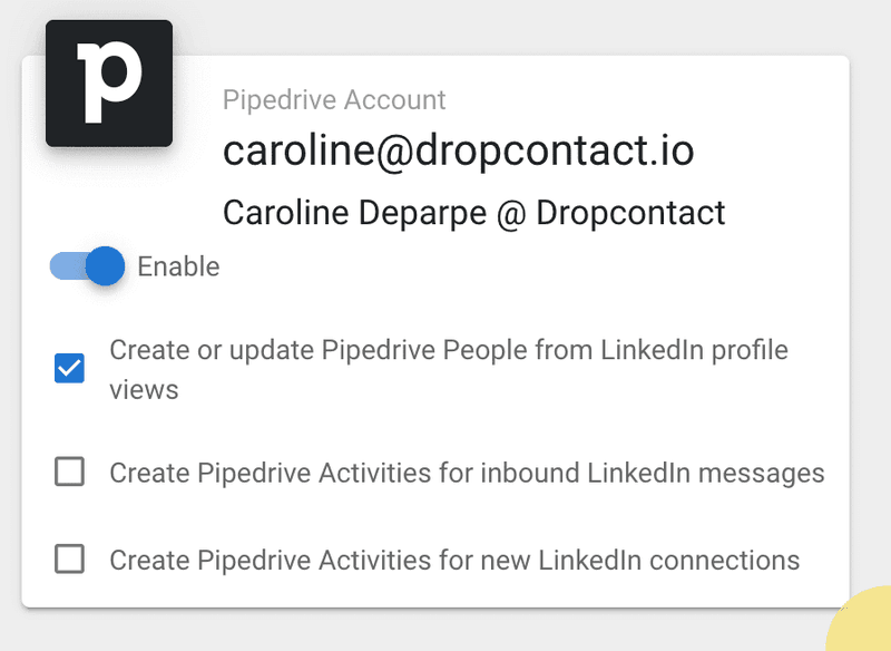 Allow Dux-Soup to create new contact sheets in Pipedrive