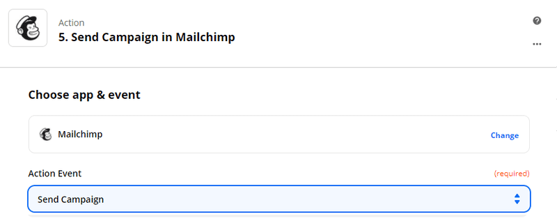 Zapier - send a personalized email with Dropcontact on mailchimp