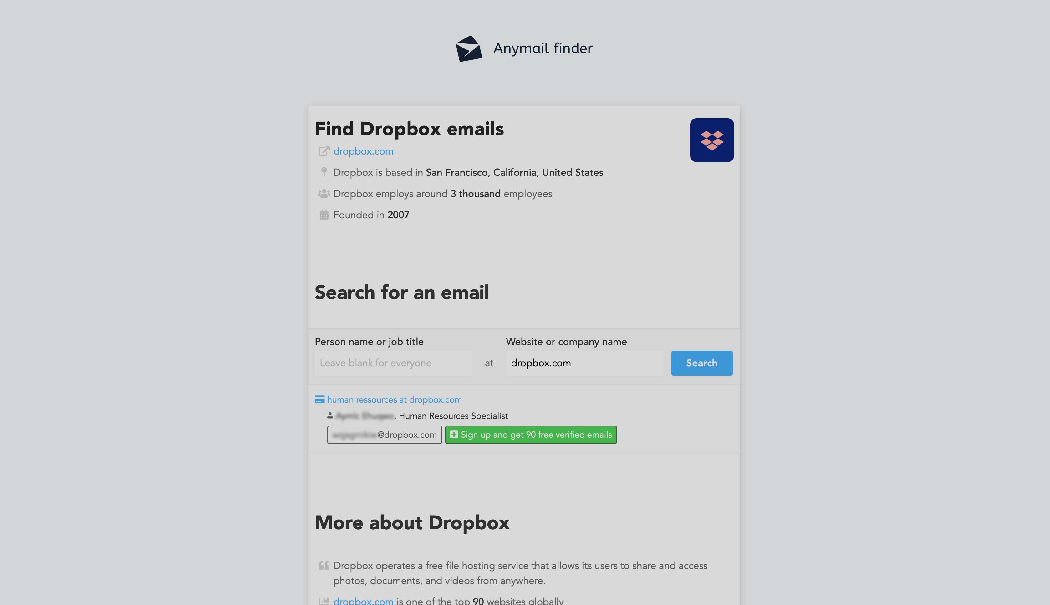 Top best Email Finder and B2B enrichment tool: Anymail Finder