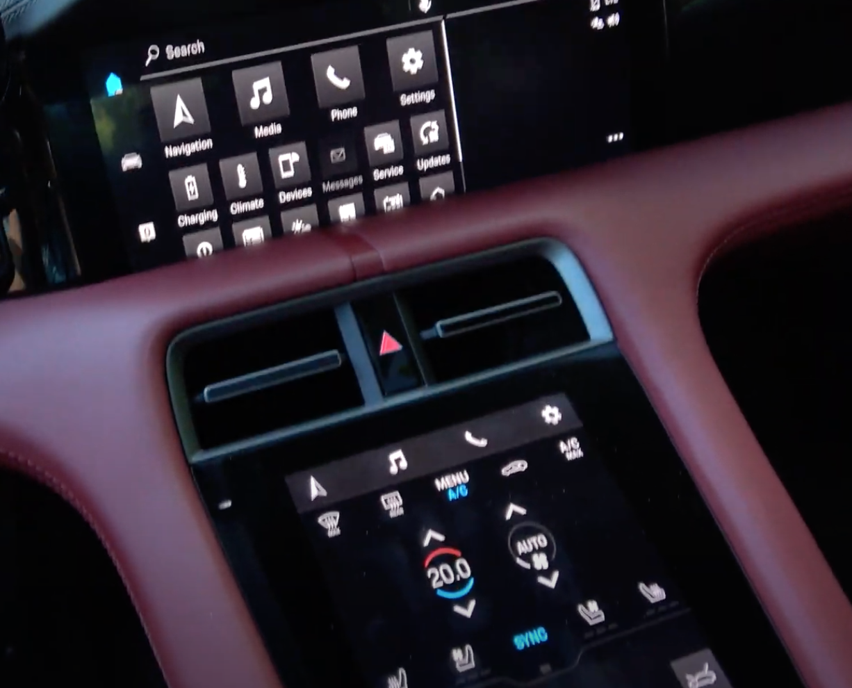 An image of the touch surfaces in a car