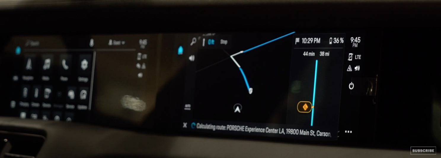 A screen showing live direction navigation