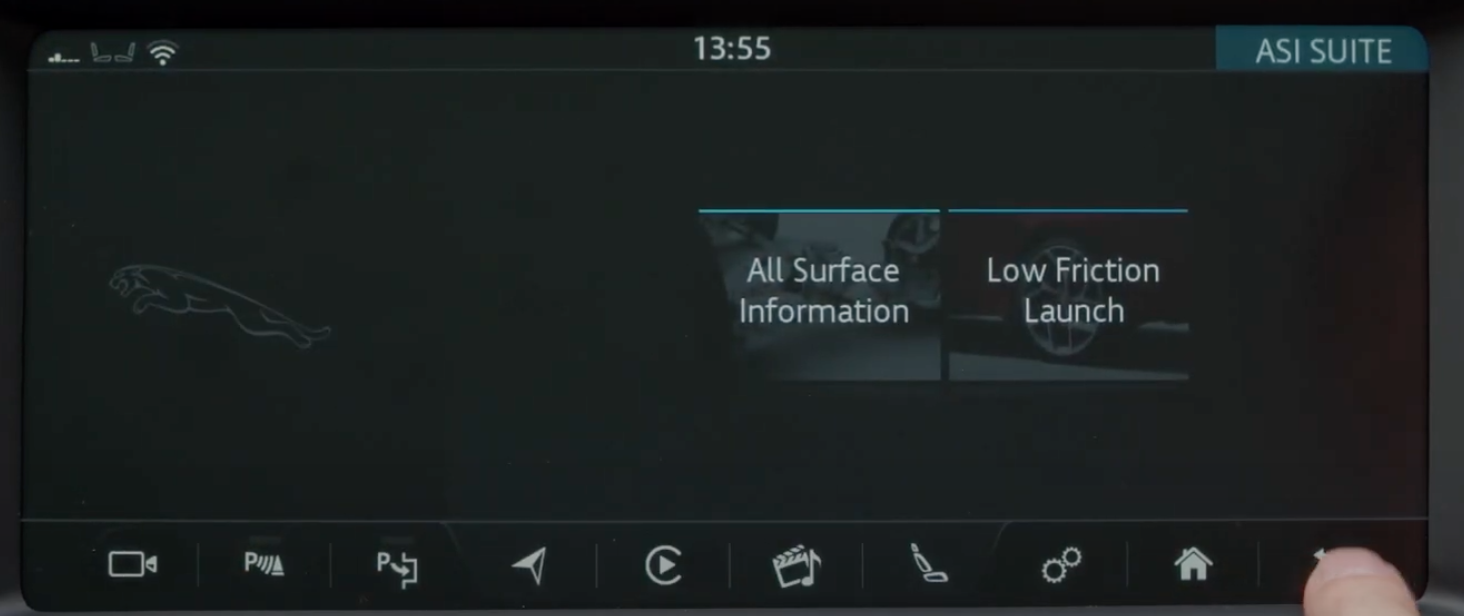 Two options to chose from, one button leads to all surface information the other to low friction launch