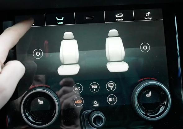 Adjusting the seat temperature through digital and physical buttons