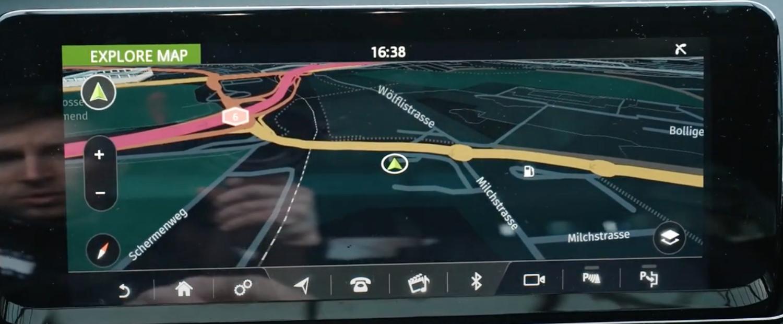 Navigation map in night mode
