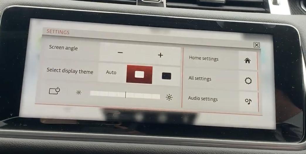 Display settings to adjust theme and brightness
