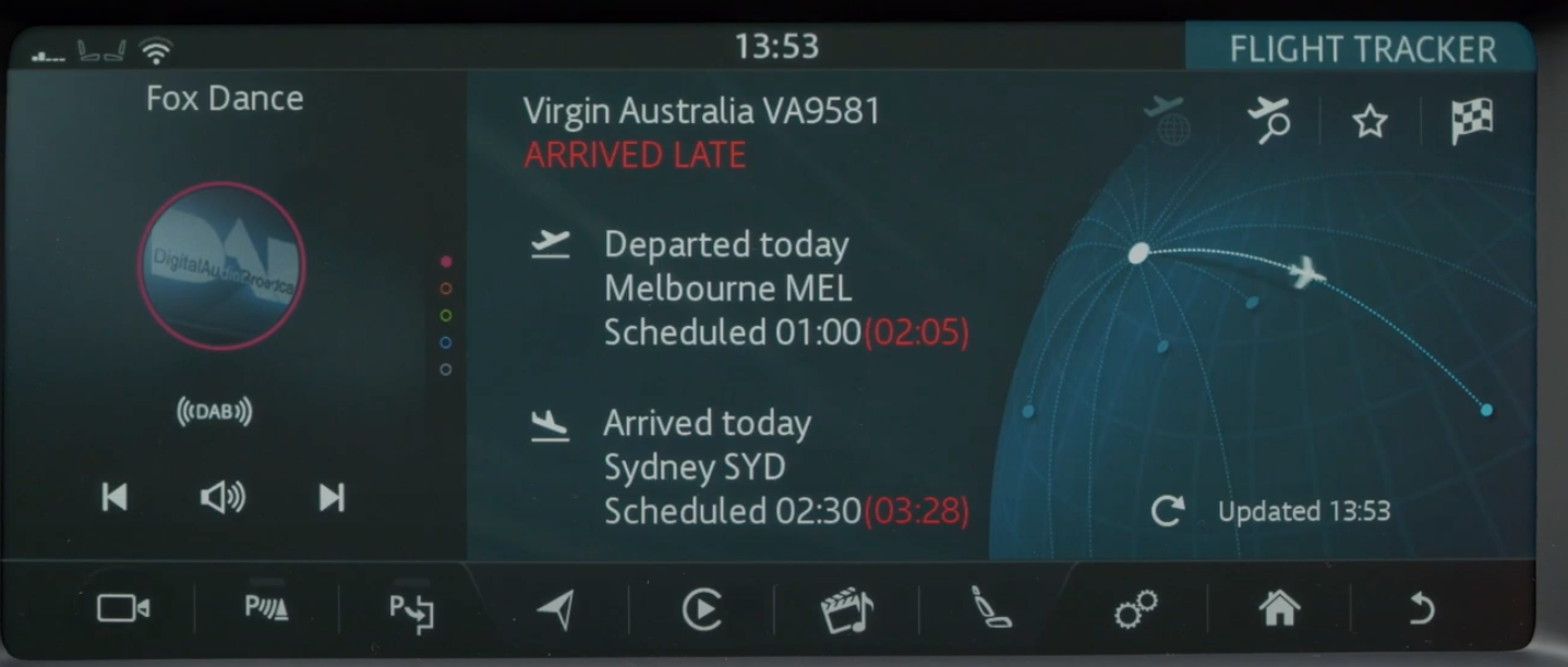 Information about a flight such as departure and arrival time