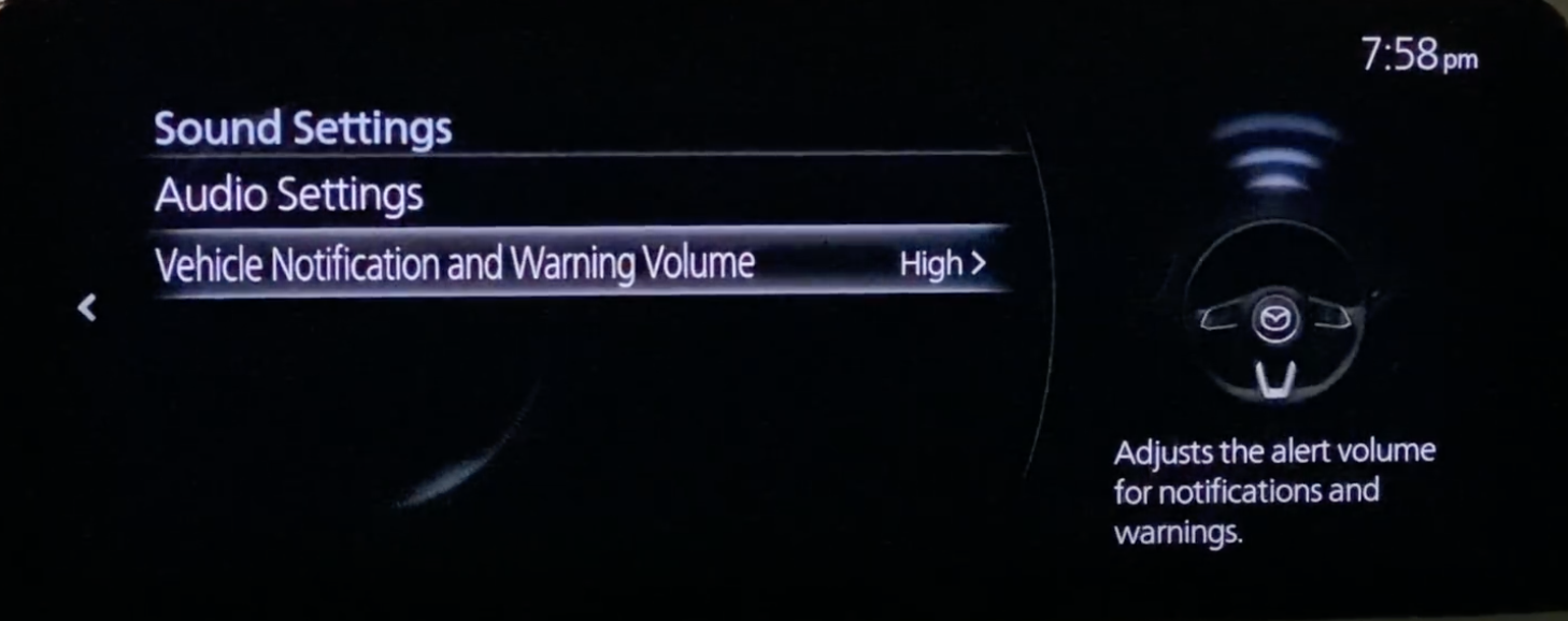 Adjusting the notification and alert volume of a vehicle