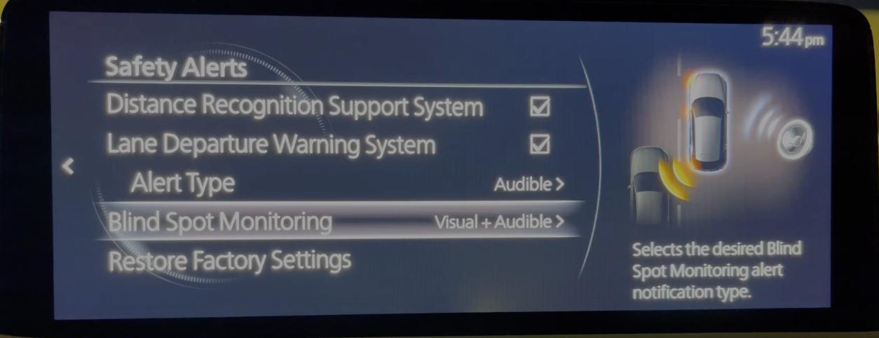 Adjusting the alert system for blind spot monitoring