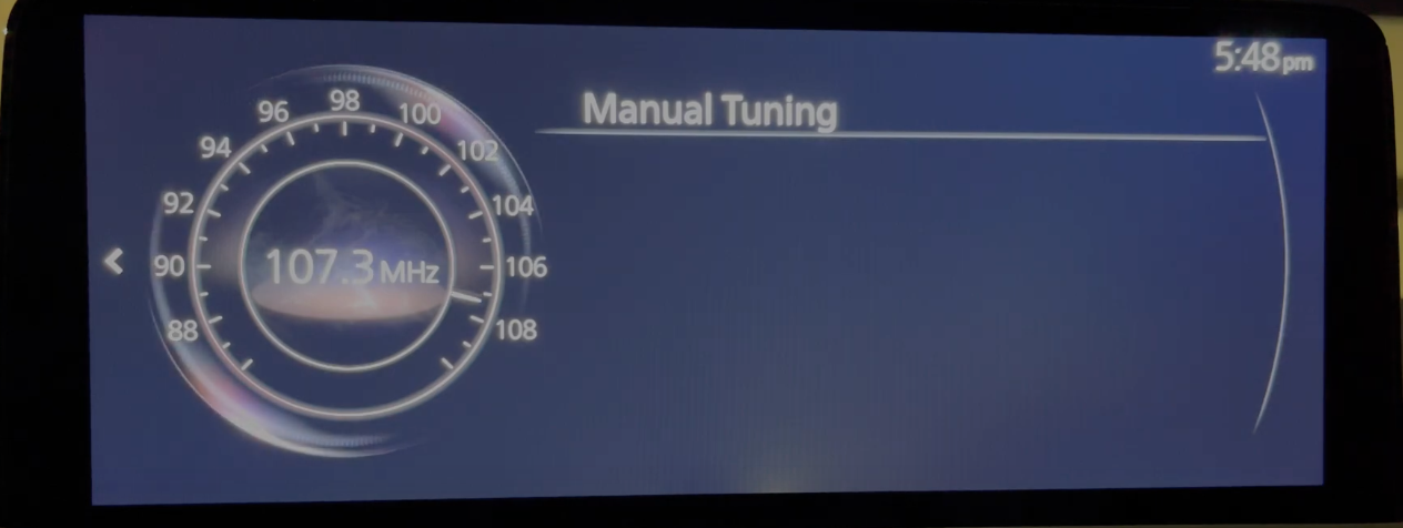 A digital dial to manually browse through radio channels