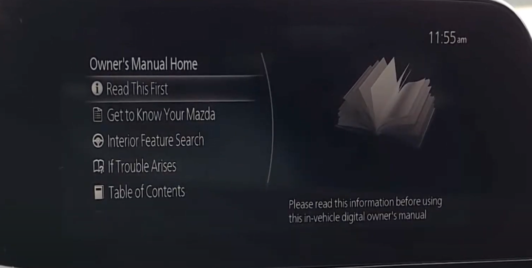 A list of owner's manual resources such as information on how to use interior features