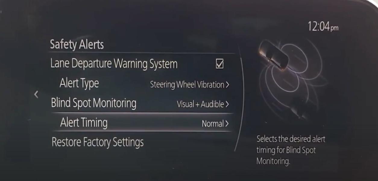 Chosing the alert timing for blind spot monitoring