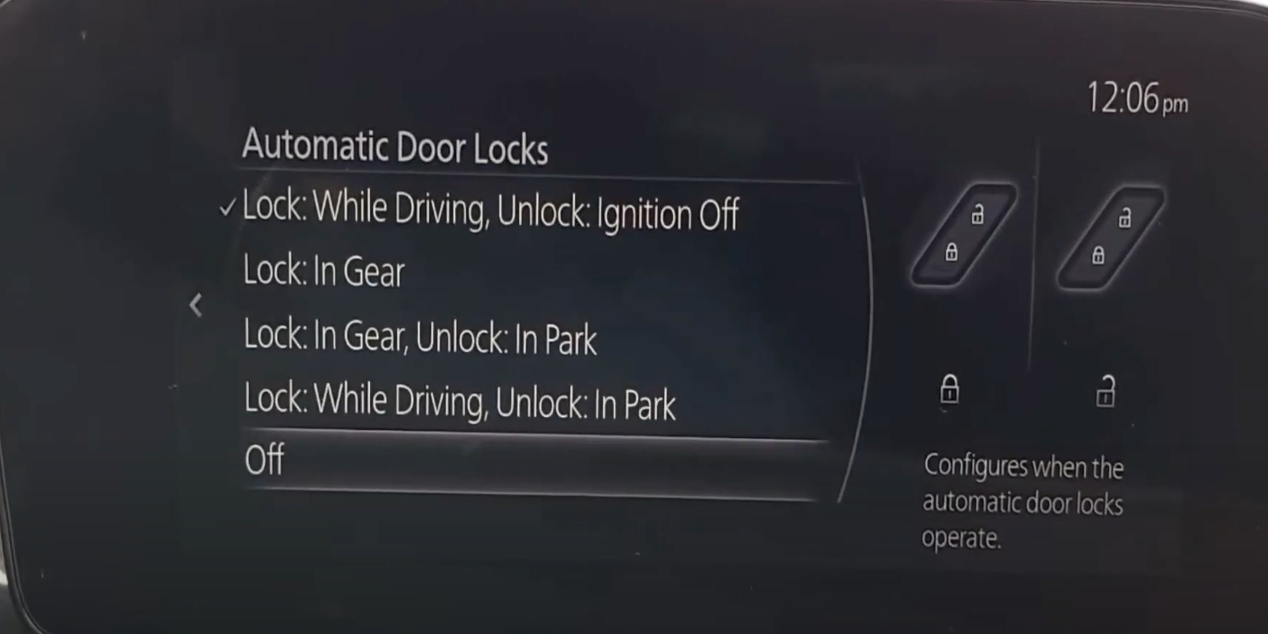 Turning off automatic door locks
