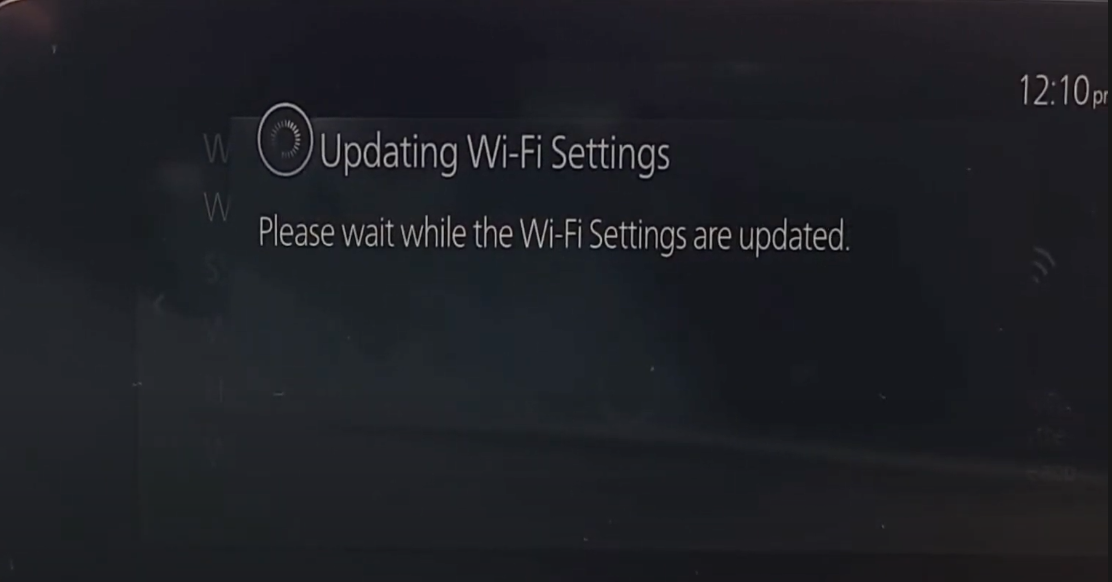 Loading animation while Wi-Fi settings are being updated