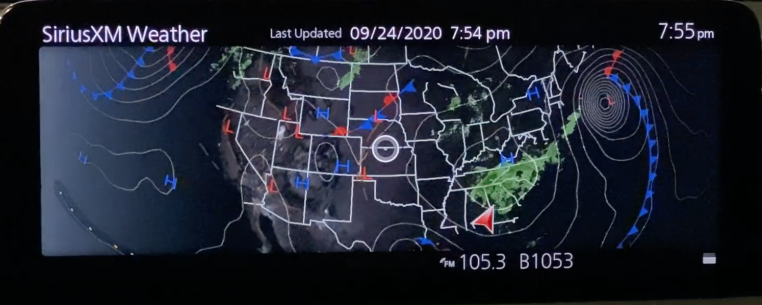 Weather forecast with a map and visuals