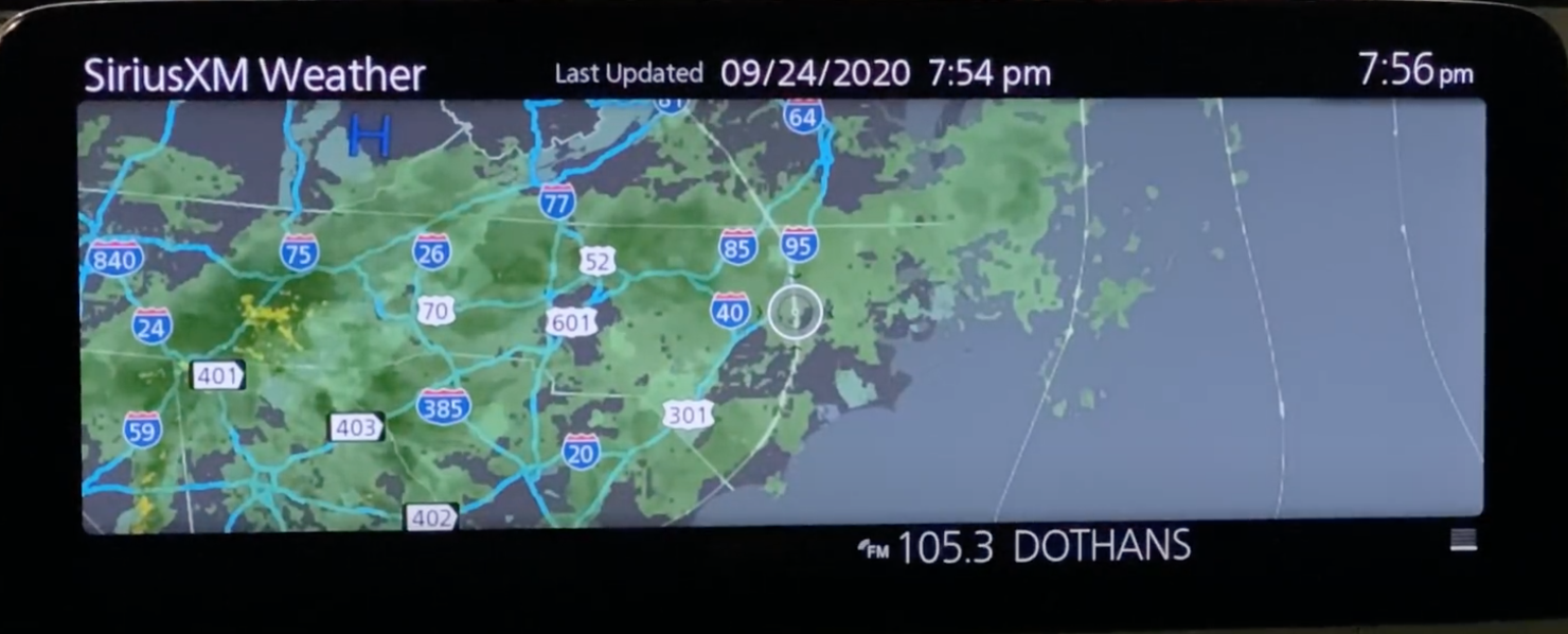 Weather forecast with a map of the desired location